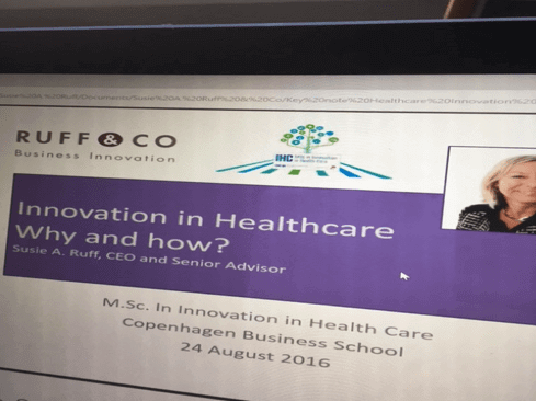 Key-note on Innovation in Health care at Copenhagen Business School