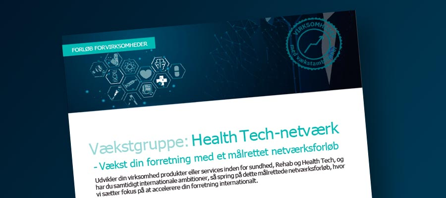 Health Tech Vækstnetværk internationalisering